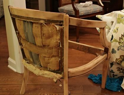 Винтажное кресло до и после