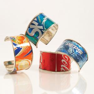 Как сделать браслет из алюминиевой банки